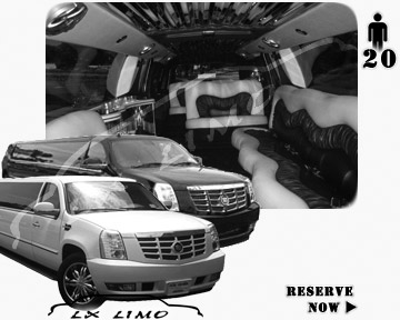 Cadillac Escalade 20 passenger SUV Limousine for rental in Detroit MI