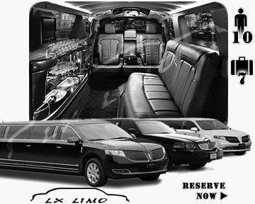 Detroit Town Car Stretch Limo for rental