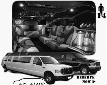 Lincoln Excursion SUV Limo for hire in Detroit MI